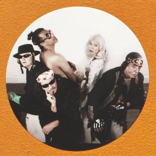 five collaborators in costume